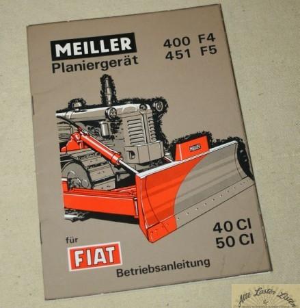 Meiller Planiergerät 400 F4 , 451 F5 für FIAT Raupe