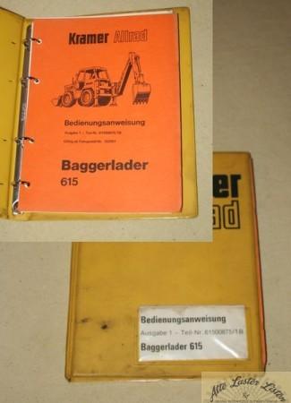 KRAMER 615 Baggerlader
