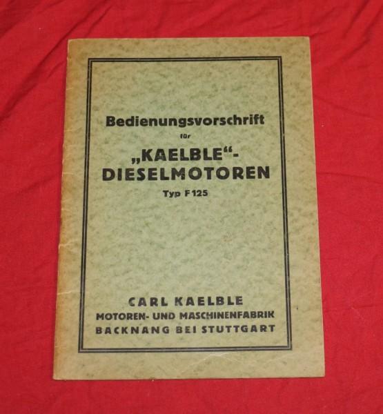 Kaelble Motoren Typ F 125