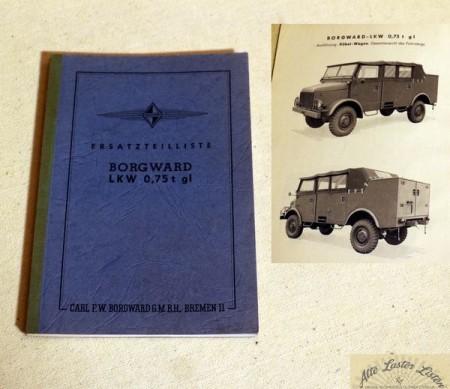 Borgward B 2000 LKW 0,75 t gl Pritsche und Kübelwagen