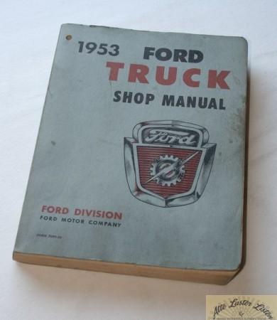 FORD , 1953 Truck shop manual
