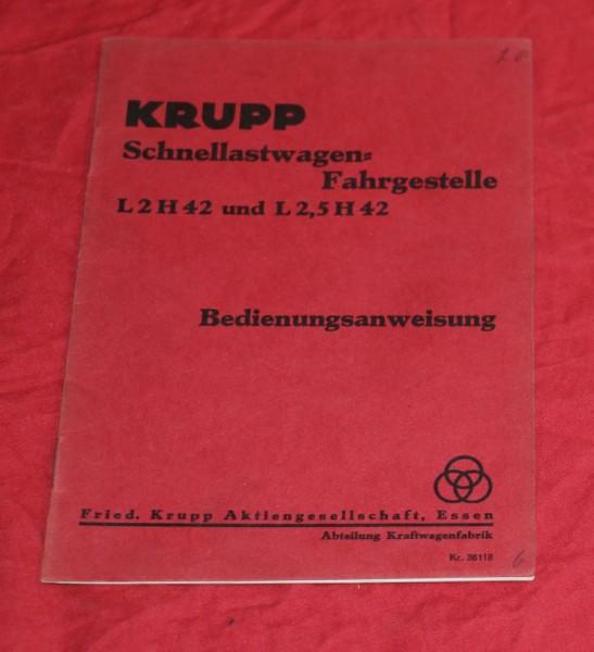Krupp L 2 / 2,5 H 42 Schnellastwagen - Fahrgestelle