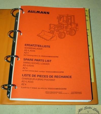 Ahlmann Schwenklader AS 4 , AS4S , AZ4