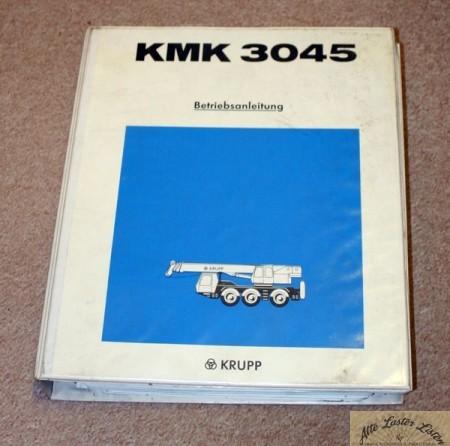Betriebsanleitung Autokran KRUPP KMK 3045