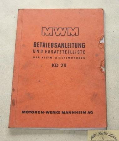 MWM Motor KD 211 , Klein - Dieselmotoren
