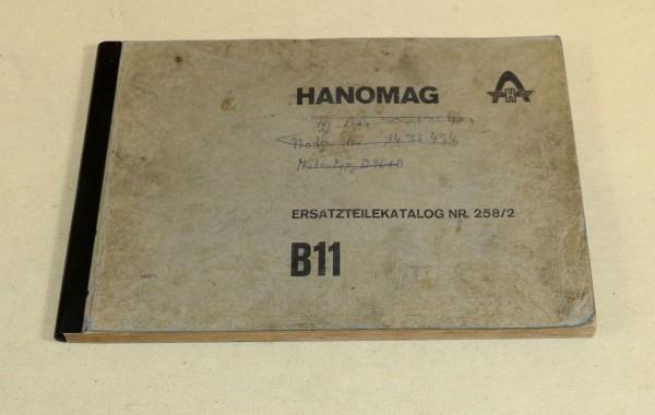 Hanomag B 11 Radlader , Ersatzteilliste