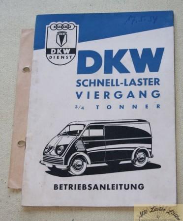DKW Schnellaster 0,75 Tonner mit 4 Gang