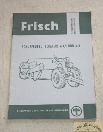 FRISCH Scraper, Schürfkübel M 4,5 und M 6