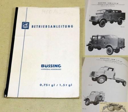 Büssing 0,75 t u. 1,5 t gl , Lizenz Borgward B 2000