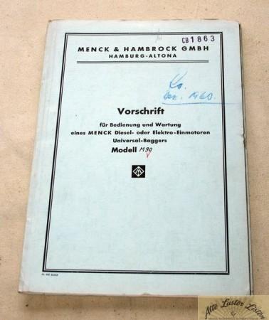 Menck M 90 , Bedienungsanleitung