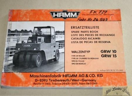 HAMM Gummiradwalze GRW 10 , GRW 15