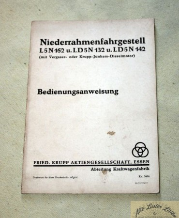 KRUPP L 5 N 162, LD 5 N 132, 142