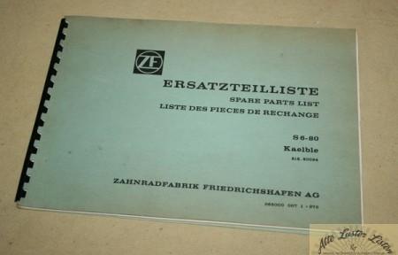 ZF Getriebe S 6-80 für Kaelble