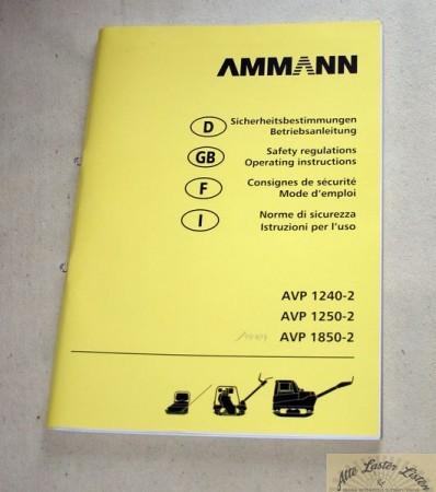 AMMANN Rüttler AVP 1240-2 , 1250-2 , 1850-2