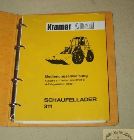 Betriebsanleitung KRAMER 311 Radlader