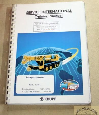KRUPP Autokran KMK 5110 Auslegerreparatur , Schulung