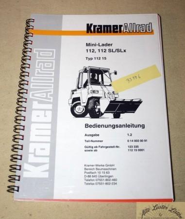 KRAMER Allrad Mini Lader 112, 112 SL, SLx Radlader