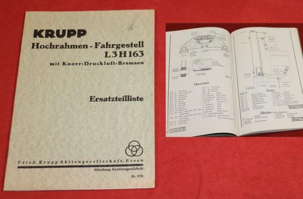 Krupp L3 H 163 , 3 Achser Hochrahmen Fahrgestell