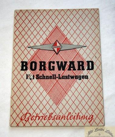 Borgward B 1250 , Betriebsanleitung