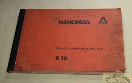 Hanomag B 16 Radlader , Ersatzteilliste