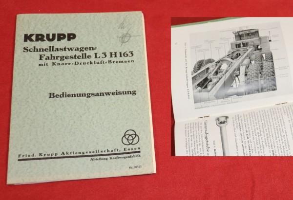 Krupp L3 H 163 , 3 Achser Fahrgestell Anleitung