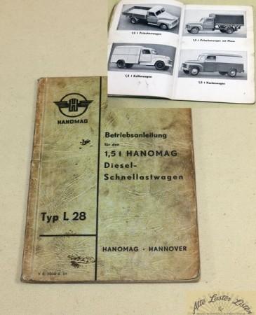 Hanomag L 28 , 1,5 t Betriebsanleitung