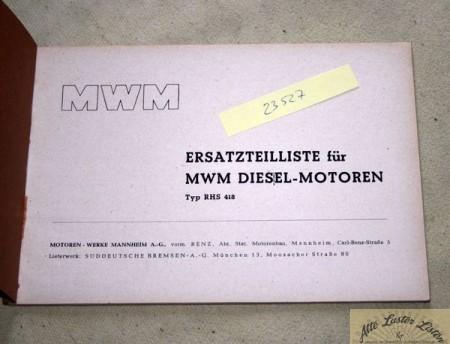 MWM RHS 418 Motor
