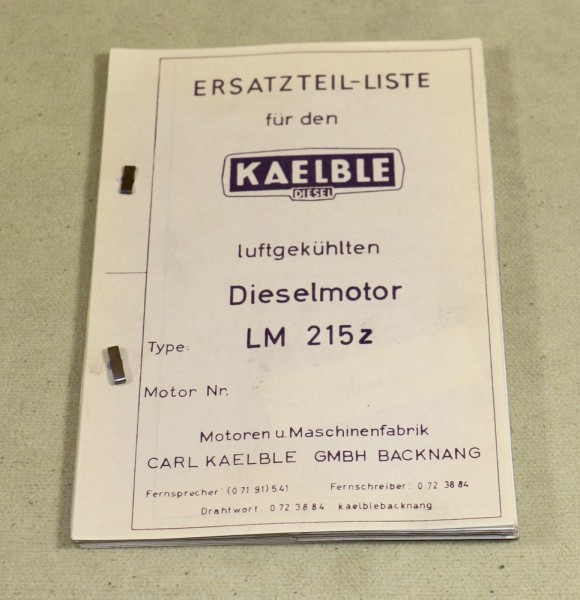 Kaelble Dieselmotor LM 215 z