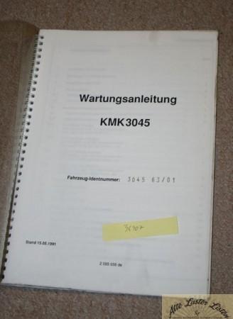 Wartungsanleitung Autokran KRUPP KMK 3045