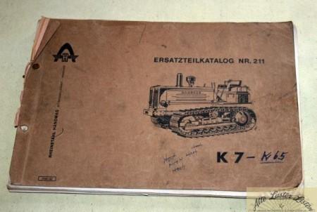 Ersatzteilliste Hanomag K7 Raupe