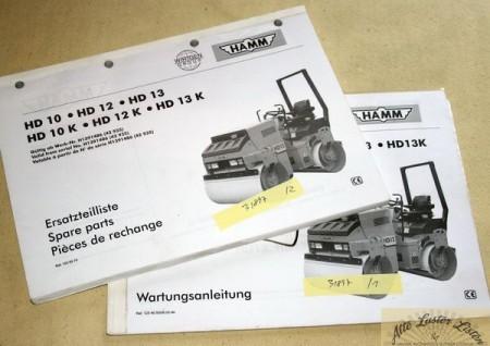 HAMM Walzen HD 10, 12, 13 , K