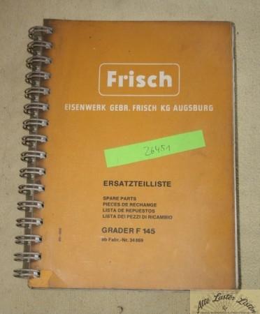FRISCH Grader F 145