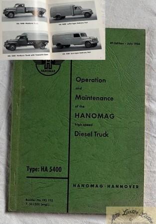 Hanomag HA 5400 , Hanomag L 28 , Text englisch !!