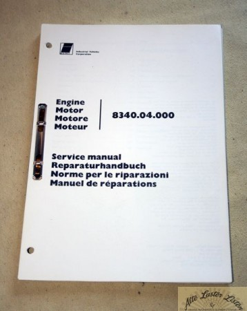 IVECO Motor 8340 , Reparaturanleitung