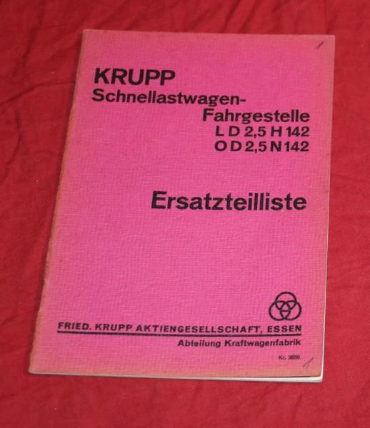 KRUPP LD 2,5 H 142 , OD 2,5 N 142 Schnellastwagen - Fahrgestelle