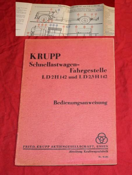 Krupp , LD 2 / 2,5 H 142 Schnellastwagen - Fahrgestelle