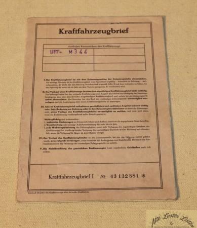Borgward B 2000 0,75t gl KFZ Brief